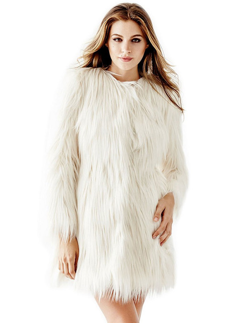 Guess-Glam-Faux-Fur-Coat-White